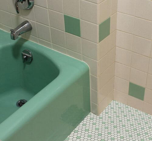 vintage-green-bathroom-white-and-green-hex-tile