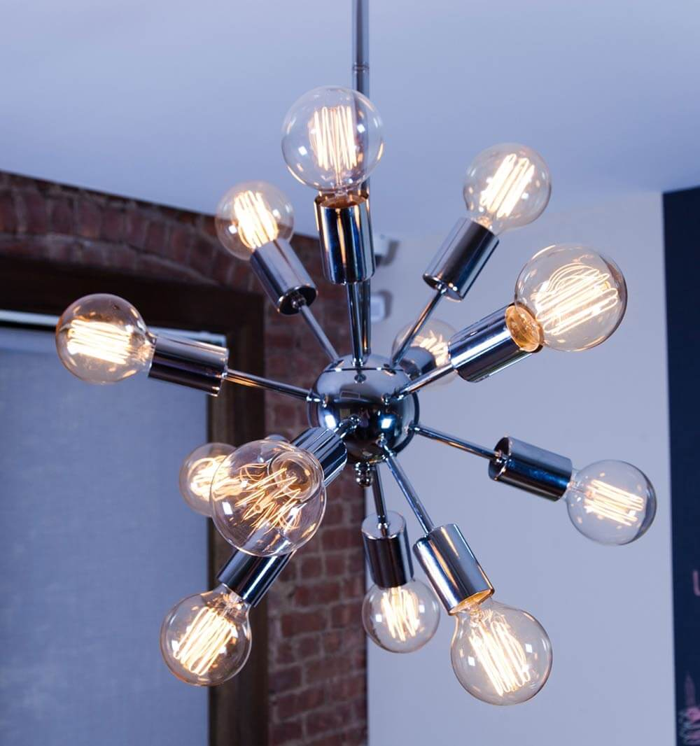 affordable sputnik chandeliers from brooklyn bulb co. Black Bedroom Furniture Sets. Home Design Ideas