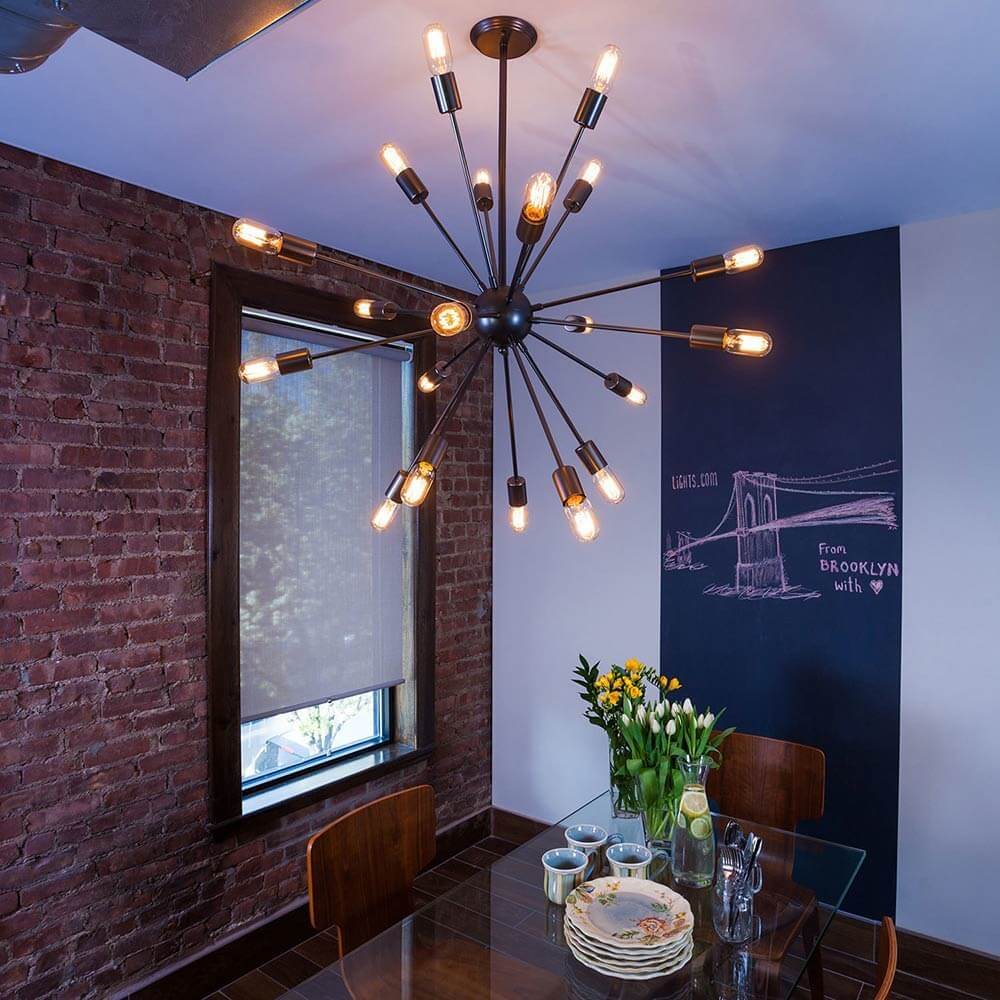Simple midcentury sputnik chandelier