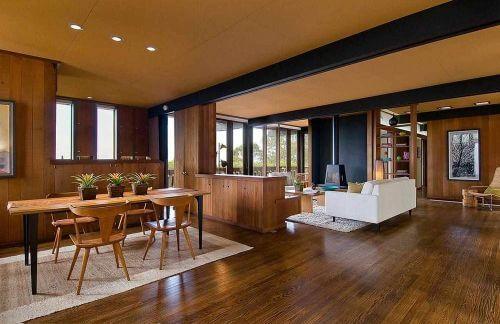 midcentury open floor plan