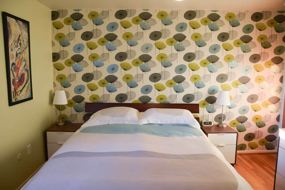 One Accent Wall Of Wallpaper Transforms Rebecca And Keith S