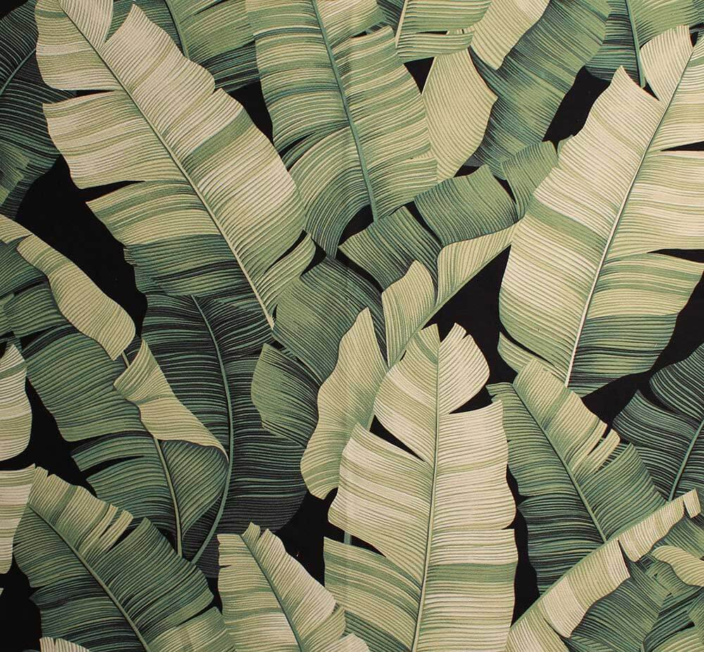11 Tropical Leaf Print Barkcloth Fabrics In 31 Colorways