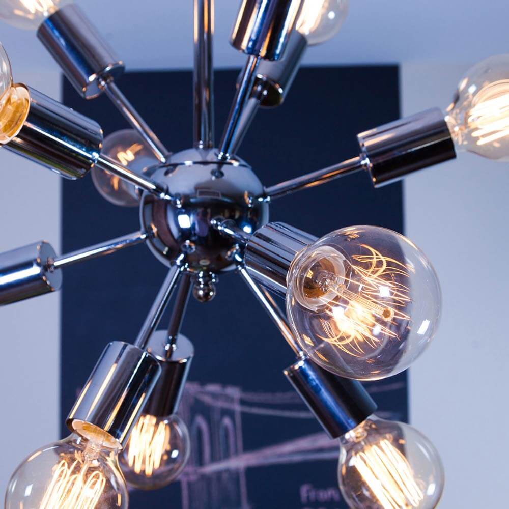 Affordable Sputnik chandeliers from Brooklyn Bulb Co. - Retro Renovation