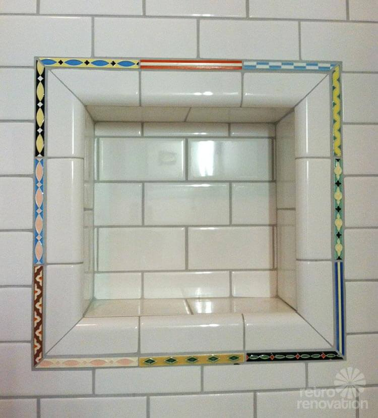 Where to get hand painted bathroom liner tiles + 33 vintage examples ...