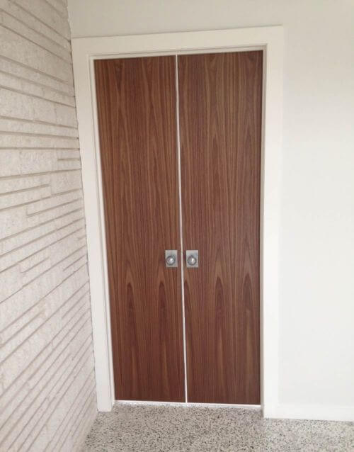 midcentury walnut door