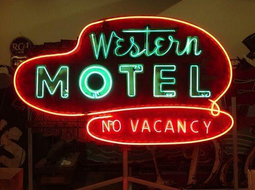 Western Motel Neon sign
