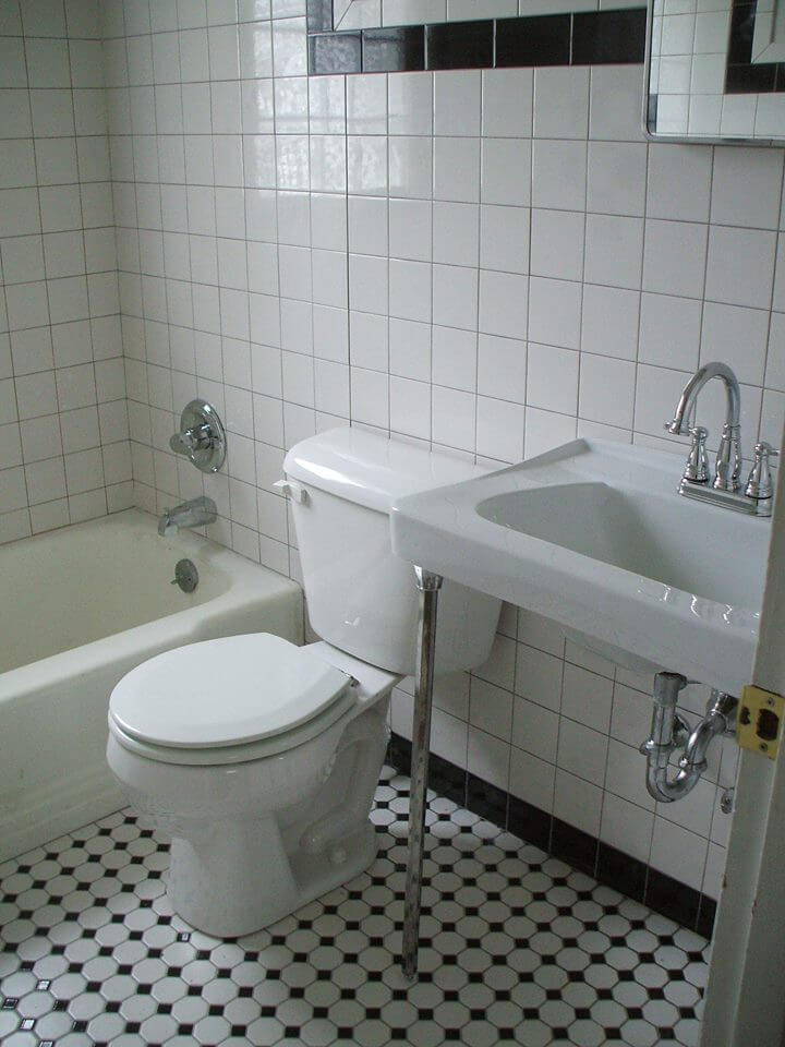 ... Black And White Tile Bathrooms Done 6 Different Ways Retro Part 92