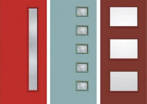 Midcentury-entry doors