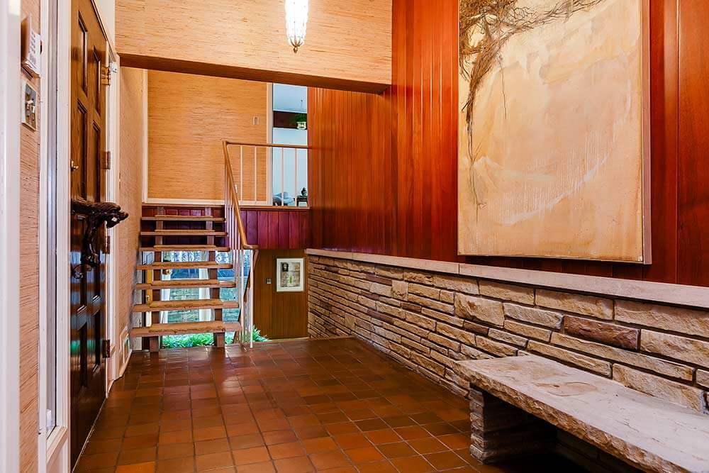 Foyer Wallpaper List : Stunning mid century modern toronto time capsule house by