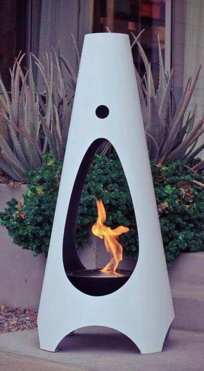 retro modern fire pit