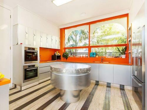 midcentury-modern-orange-kitchen