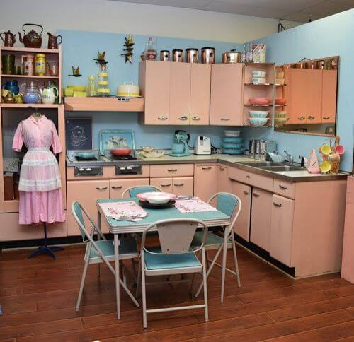 Pink Kitchen Cabinets steel kitchens archives - retro renovation