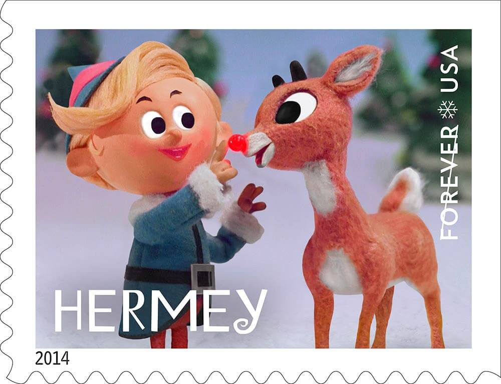 Rudolph The Red Nosed Reindeer Burl Ives >> Rudolph the Red-Nosed Reindeer stamps - pre-order now - Retro Renovation
