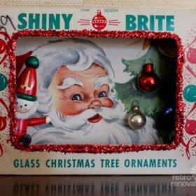 christmas ornament box diorama