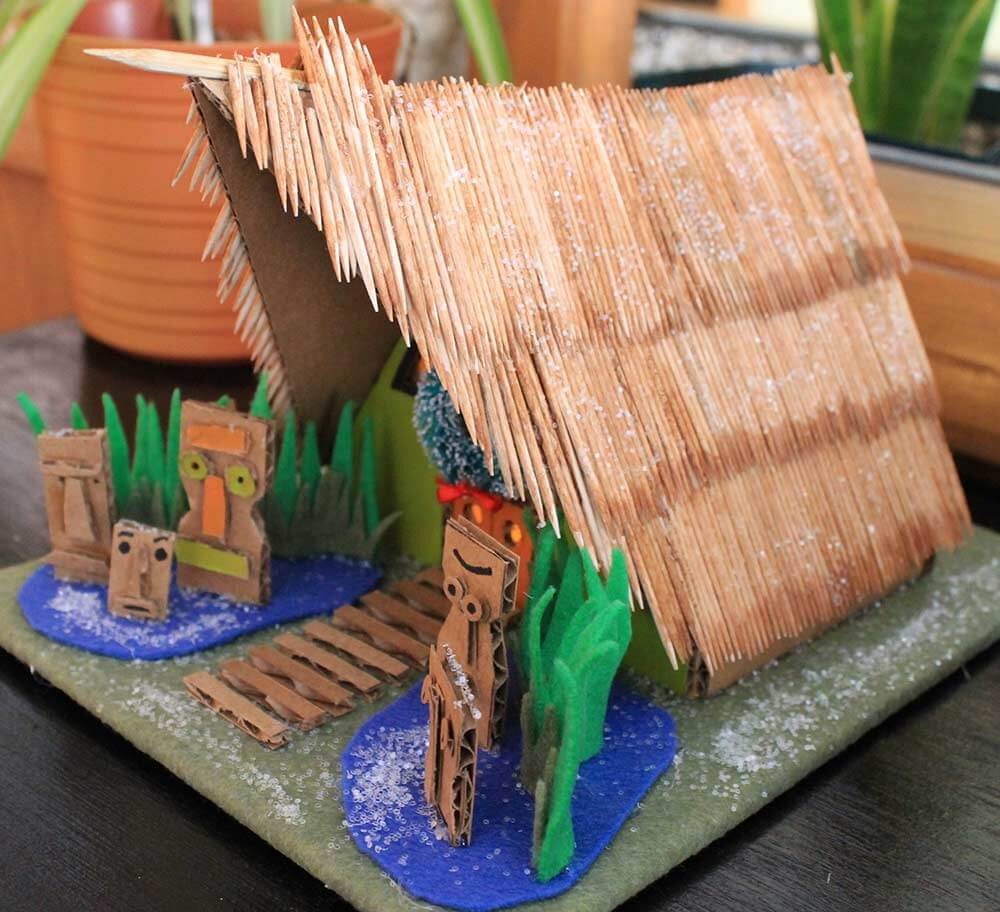 Kahiki Tiki Putz House Download Our Free Diy Pattern