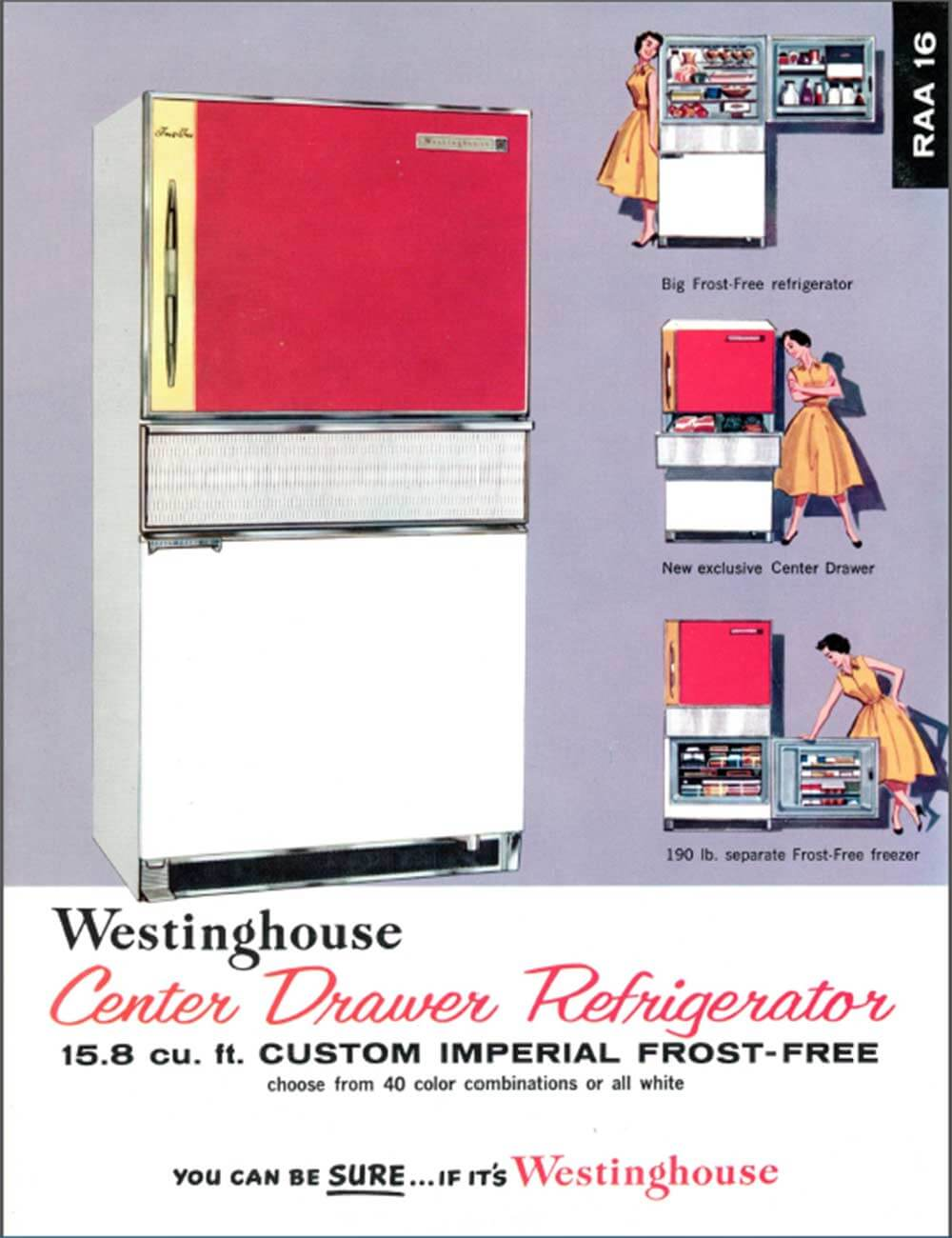 Vintage-Westinghouse-Center-drawer-refrigerator