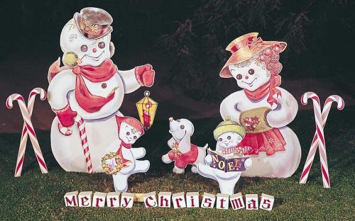 retro christmas yard display