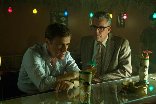 (L-R) CHRISTOPH WALTZ and DANNY HUSTON star in BIG EYES. © 2014 The Weinstein Company. All rights reserved.