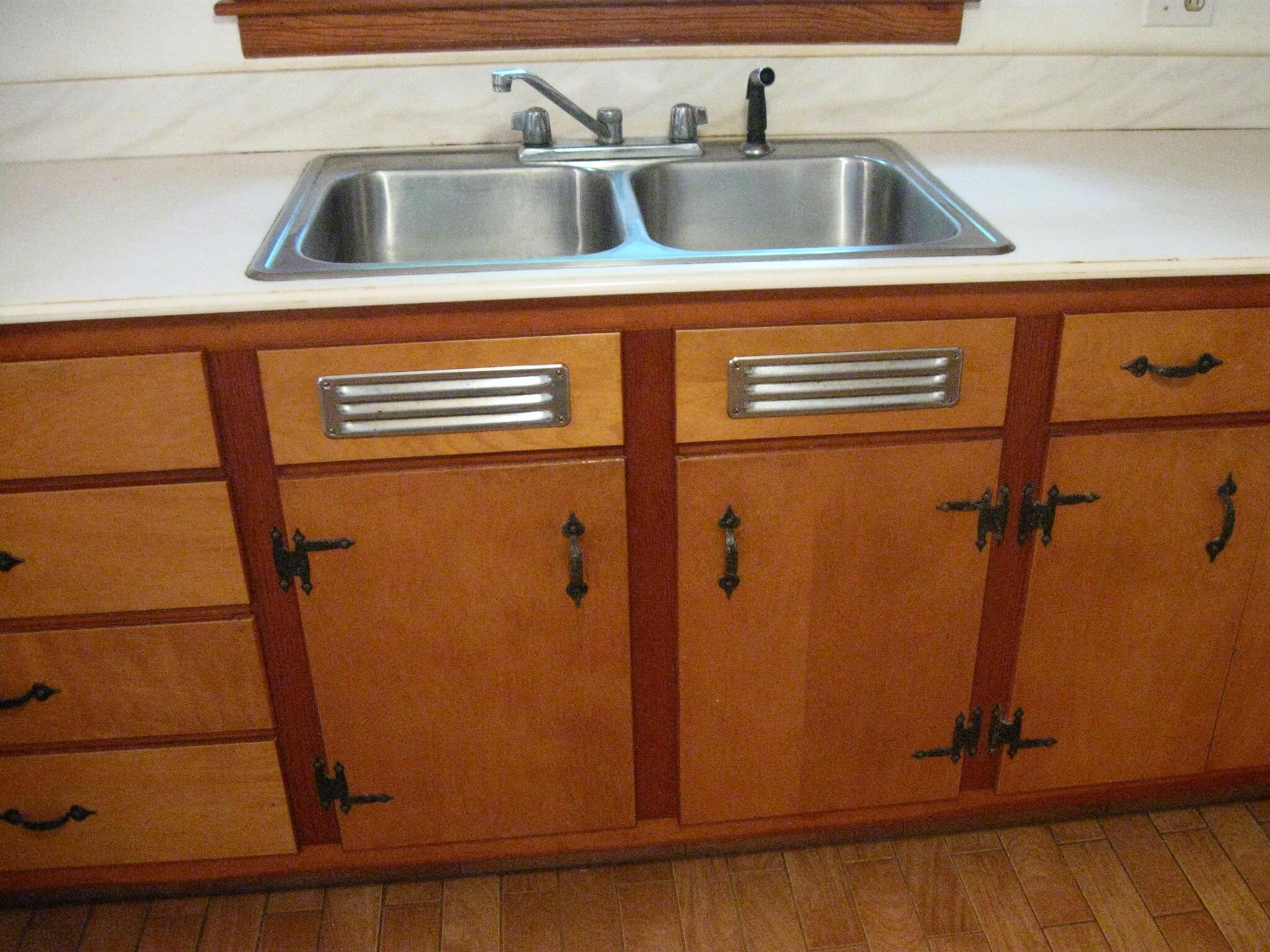 kitchen sink furniture stash of nos kitchen sink cabinet vents made by washington steel products retro renovation 8559