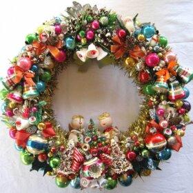 vintage corsage wreath retro crafty