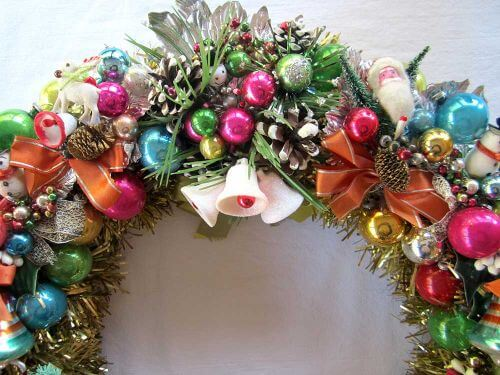 vintage corsage wreath retro crafty