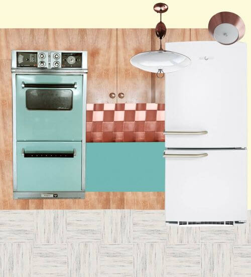 vintage retro kitchen
