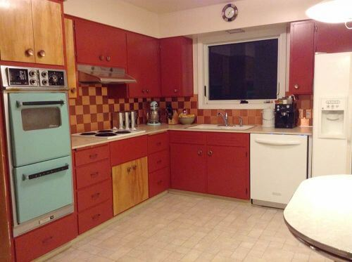 Retro Kitchen Flooring flooring and countertops for shannan's 1950s kitchen - retro