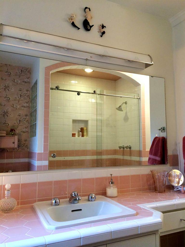 beautiful pink bathroom remodel