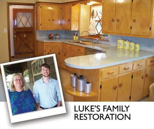 Best retro renovation kitchen remodel of 2014 luke and for Win a kitchen renovation