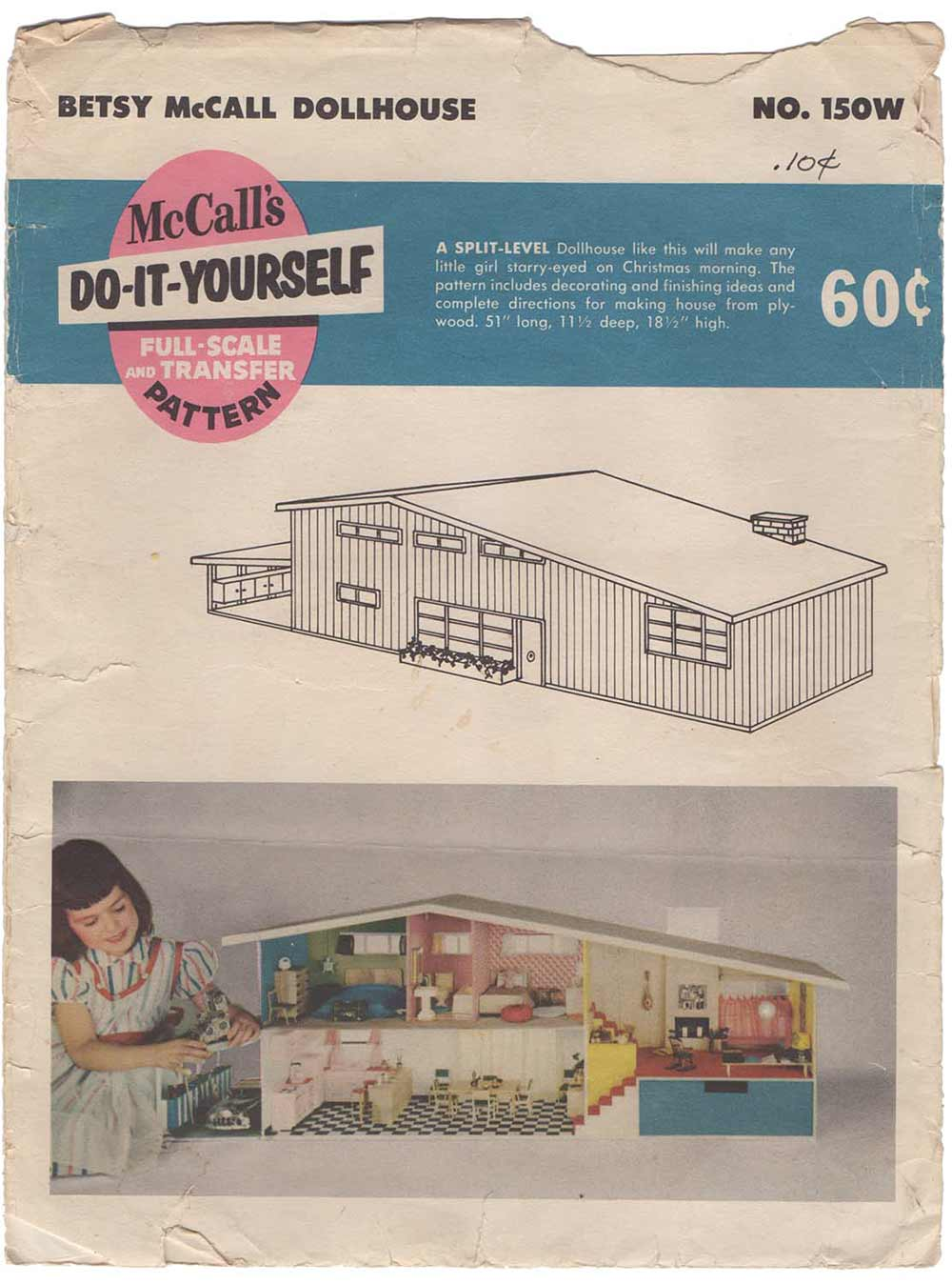 Kate builds a 1955 betsy mccall do it yourself dollhouse retro midcentury dollhouse kate builds a diy dollhouse solutioingenieria Gallery
