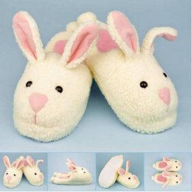 retro bunny slippers