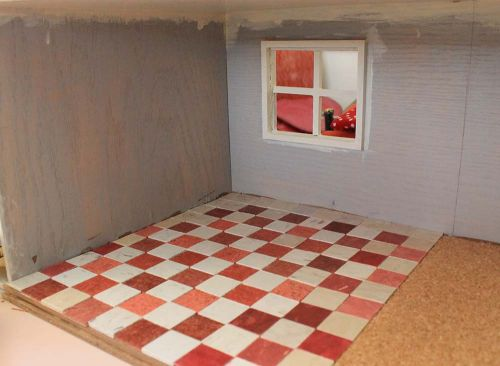 checkerboard dollhouse floor