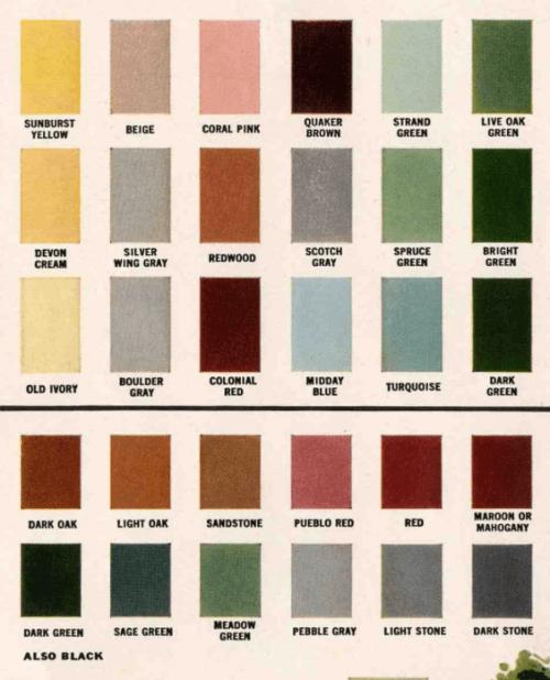 exterior paint colors 1960s