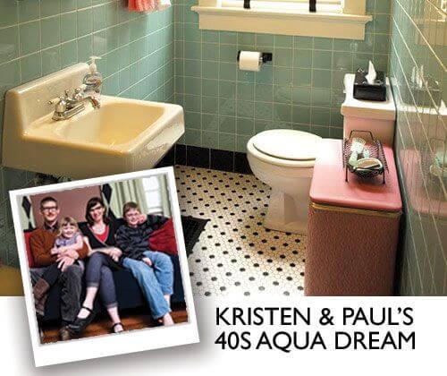 Best Retro Renovation Bathroom Remodel Of Kristen Paul Win - How to gut a bathroom