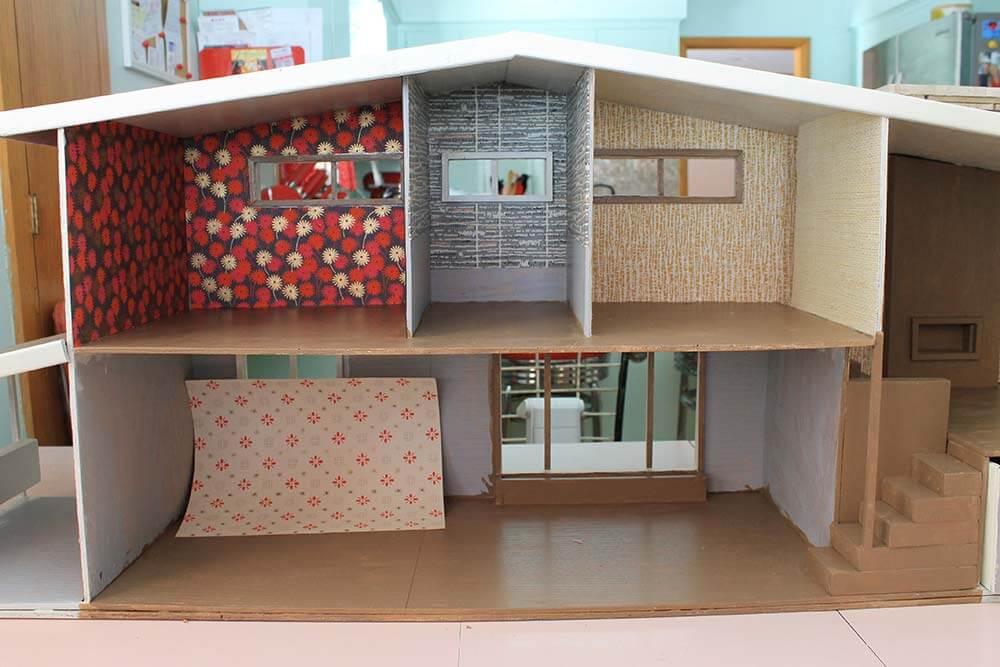 Kate Goes Krazy For Wallpaper As She Begins Decorating Her 1955 Rh Retrorenovation Com Printable Dollhouse