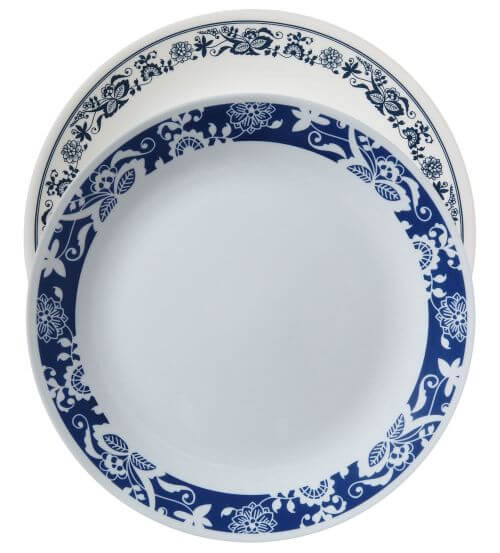 Corelle true blue a retro throwback to 1972 old town blue Most popular china patterns