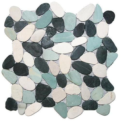 pebble floor tile