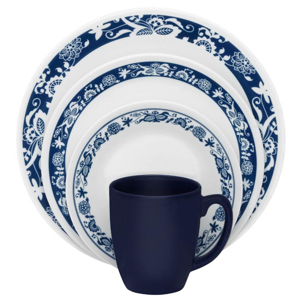 Corelle True Blue  sc 1 st  Retro Renovation & Corelle True Blue -- a retro throwback to 1972 Old Town Blue