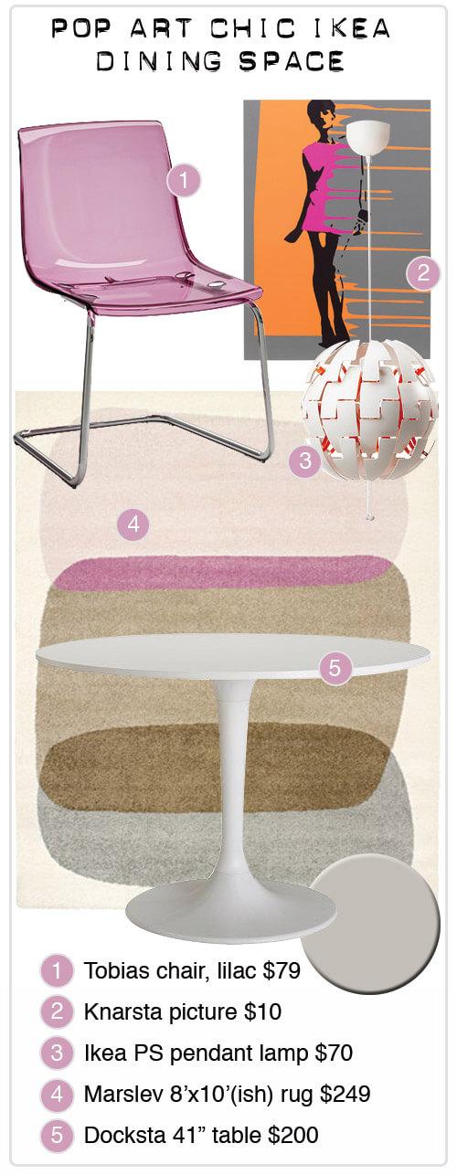 Ikea Mid Mod Dining Room Midmodmadmoodboard Graphic1