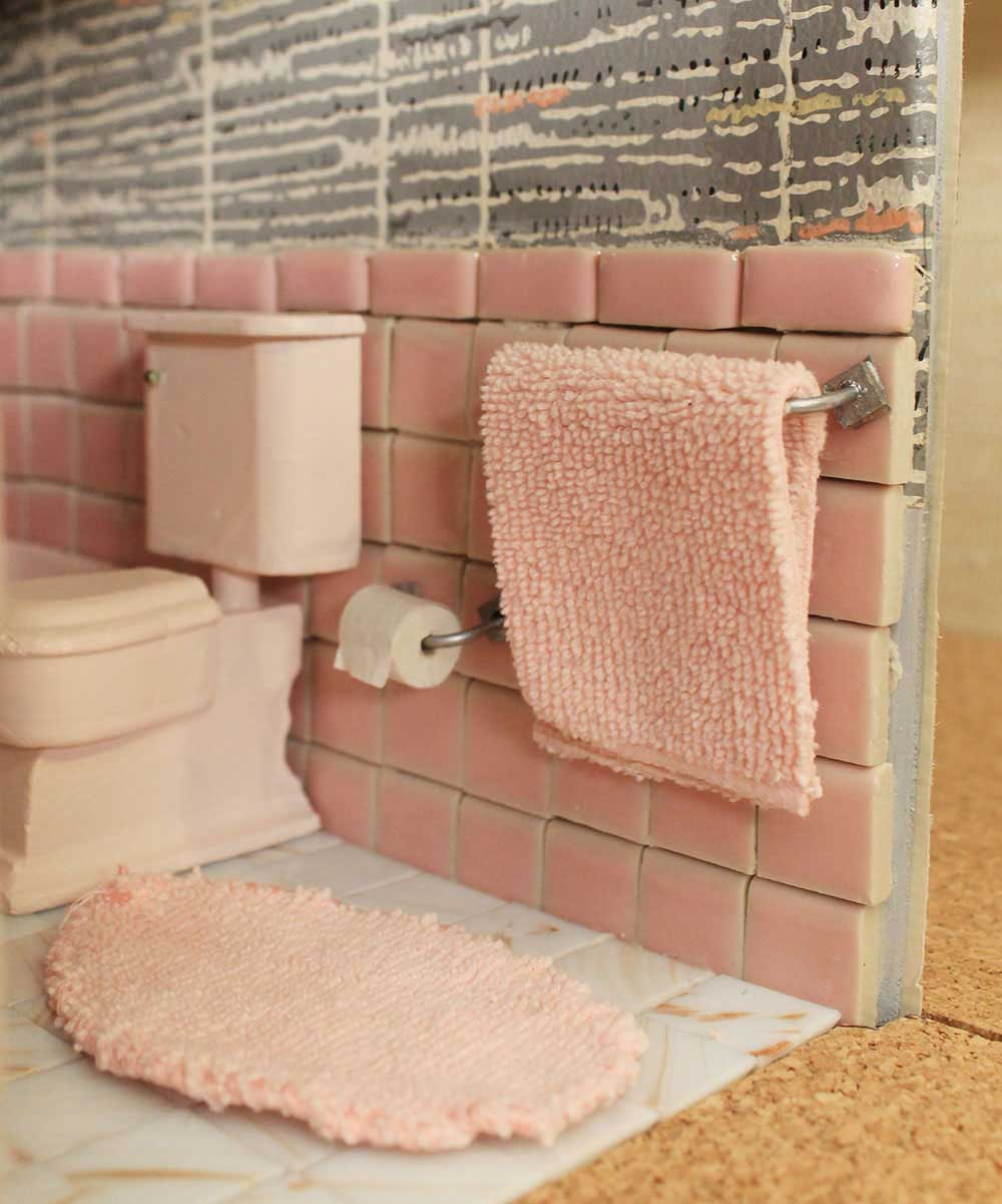Popular vintage dollhouse bathroom