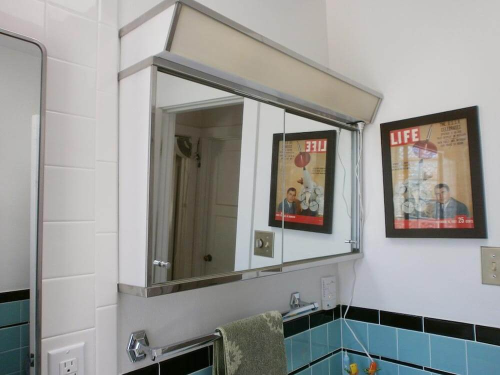 vintage style bathroom mirror waits 28 years for retro bathroom remodel 21243