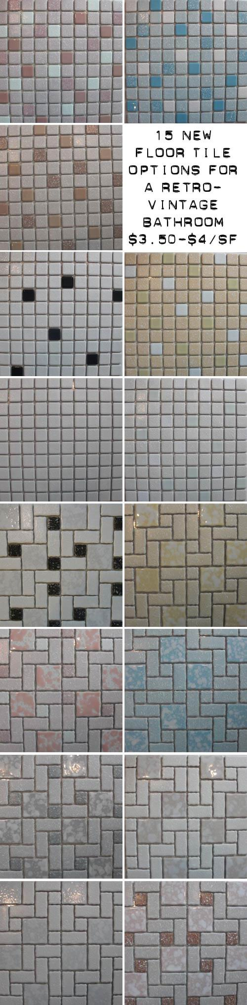 Places To Find Colorful Mosaic Floor Tile S Style Retro - Vintage bathroom flooring