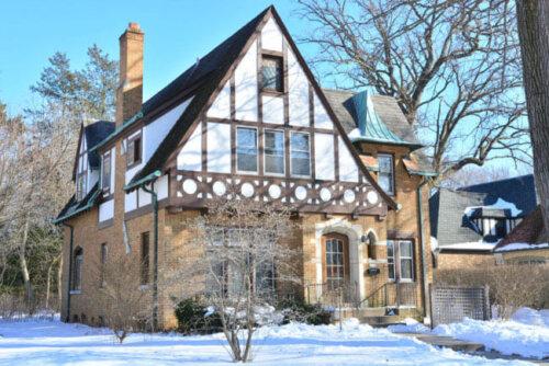 Tudor home exterior