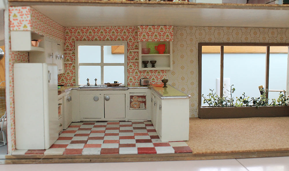 dollhouse kitchen midcentury retro - Dollhouse Kitchen