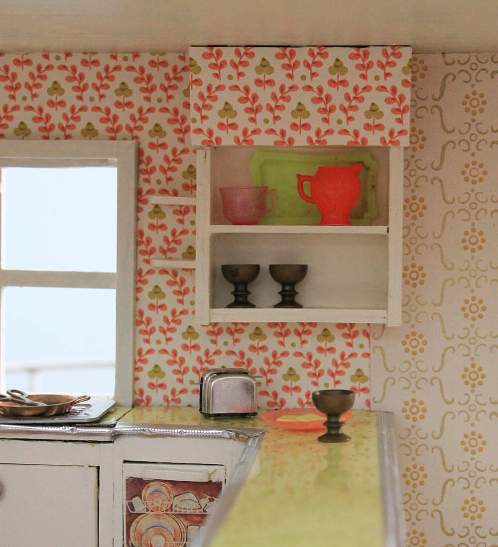 a vintage + custom kitchen for the betsy mccall dollhouse - retro