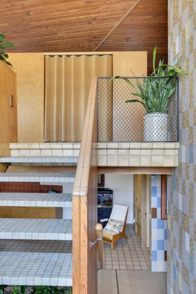 micentury modern tile staircase