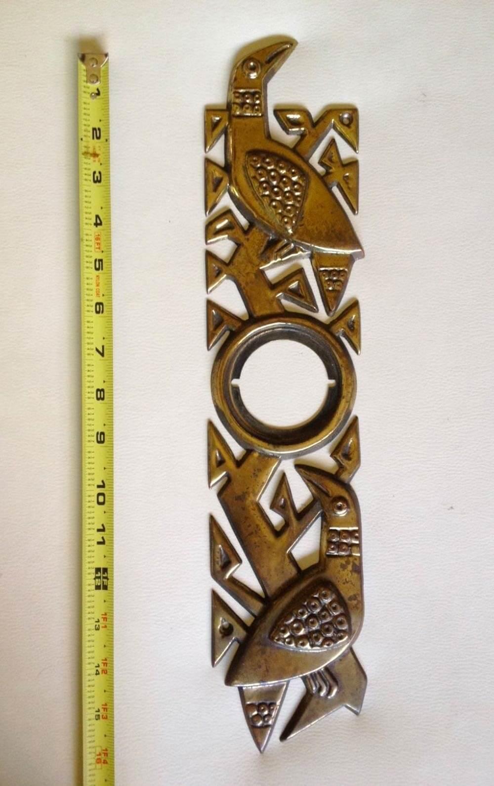 vintage escutcheon vintage escutcheon & A rare Howard Pierce bird midcentury front door escutcheon - Retro ...