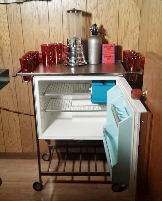 Elegant GE Refrigerator Bar Cart Retro