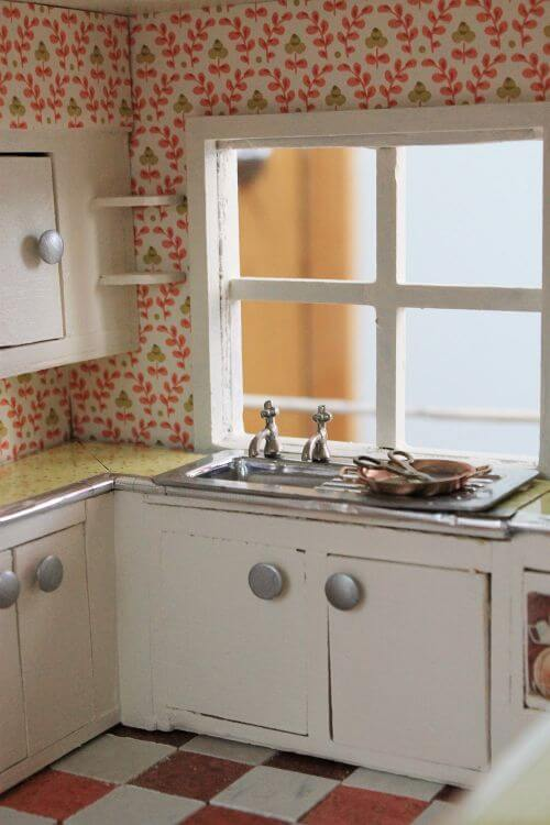 dollhouse kitchen midcentury retro