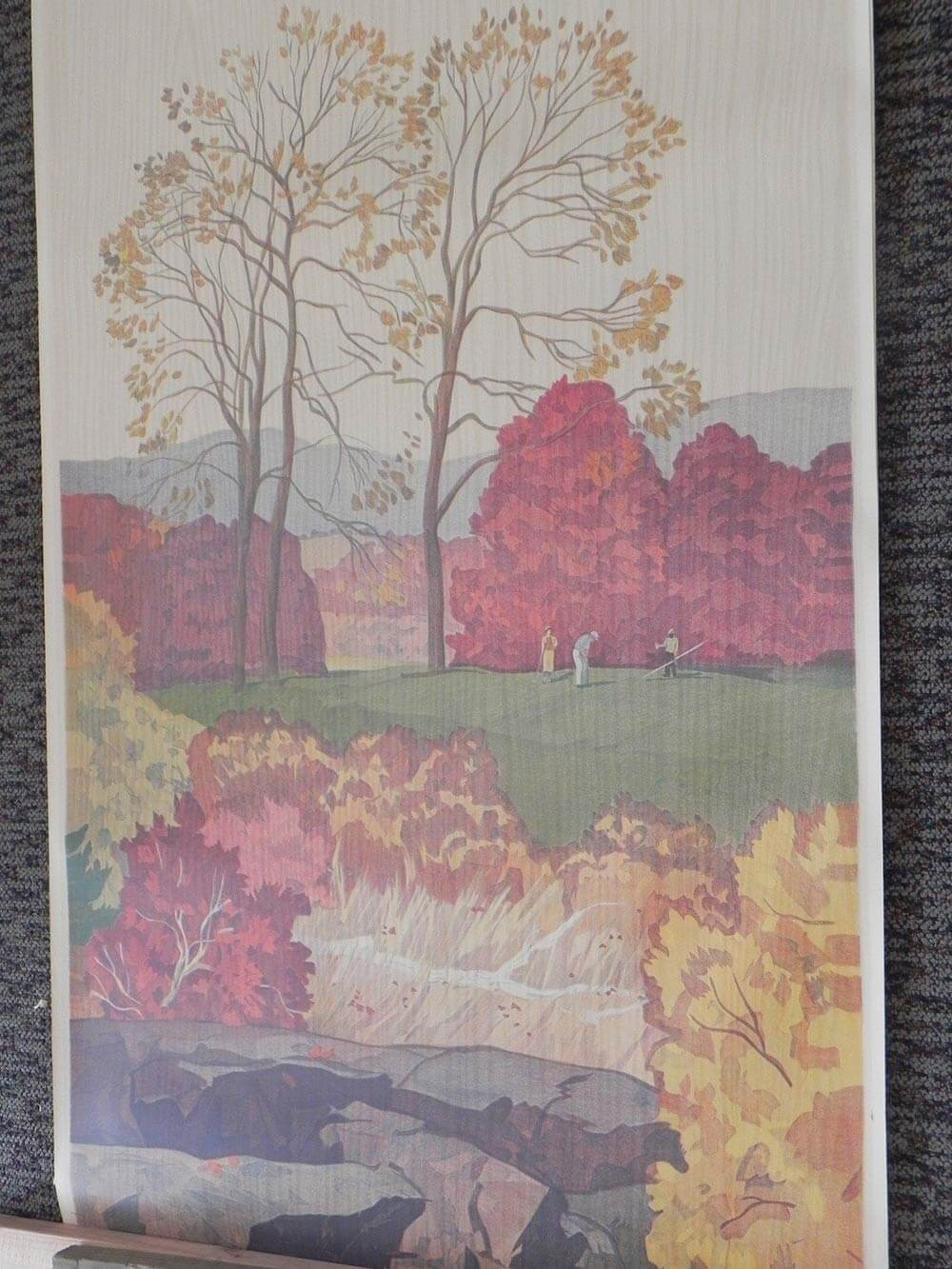 Full Room Vintage Wallpaper Murals By The Schmitz Horning Co Retro Renovation